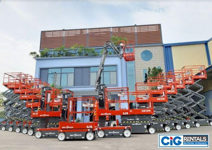 CIG Power cung cấp đa dạng mẫu mã xe nâng người cũ