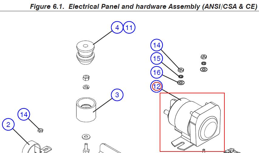Linh kiện xe nâng SkyjackCONTACTOR for scissor lift – Part No. 146475
