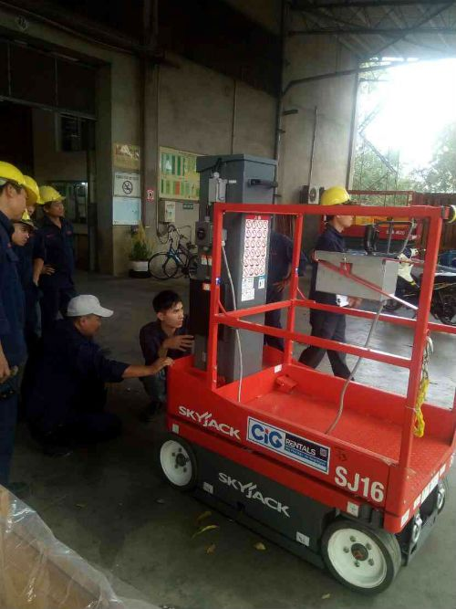 CiG Power cung cấp xe nâng người tự hành cho Vedan
