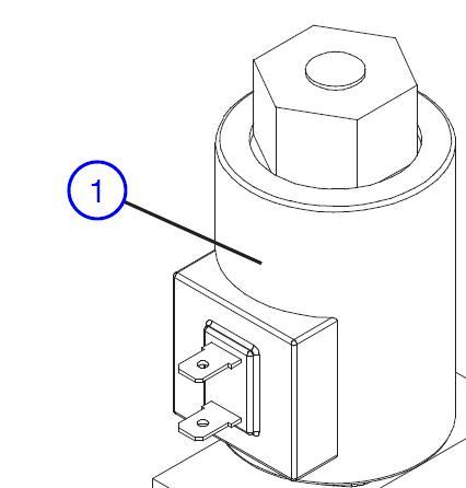 Coil 24 V for scissor lift – Part No. 115370
