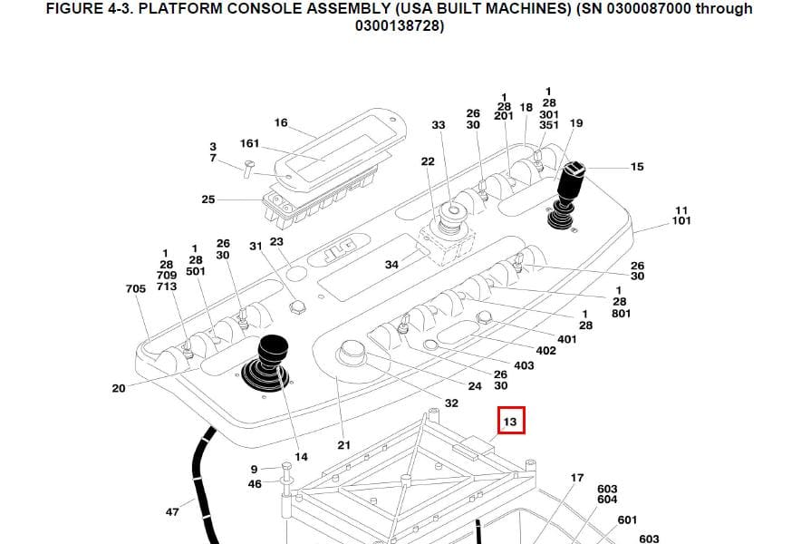 Linh kiện xe nâng JLG CONTROLLER,PLATFORM MODULE – Part No. 1600375