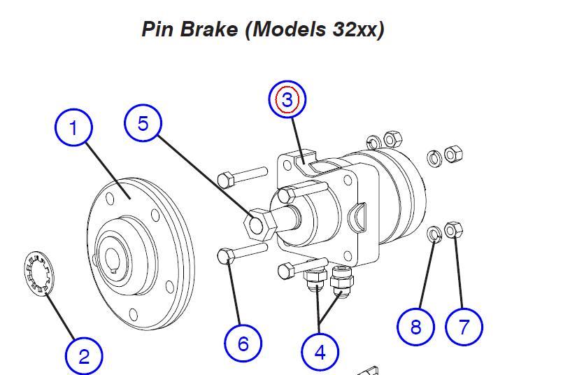 Motor, hydraulic wheel drive – Part No. 103129