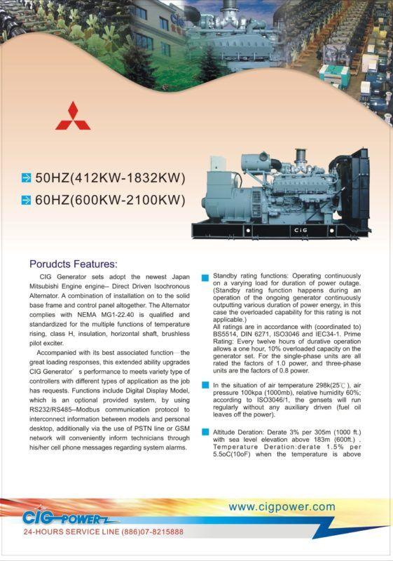 Tổ máy phát điện Mitsubishi