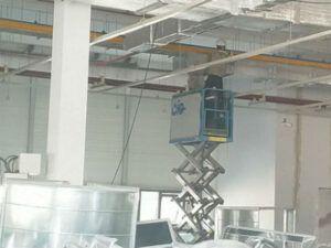 Xe nâng người tự hành CiG Power tại công trường Goldsun – Bắc Ninh