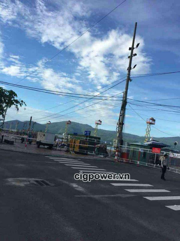 Xe nâng người tự hành CiG phục vụ lễn hội pháo hoa Đà Nẵng 2018