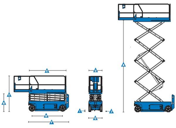 Biểu đồ nâng xe Genie GS-4047