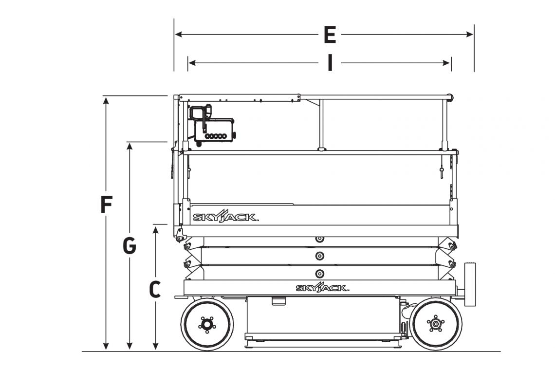 Thông số kỹ thuật xe nâng người 12m SJIII 4632