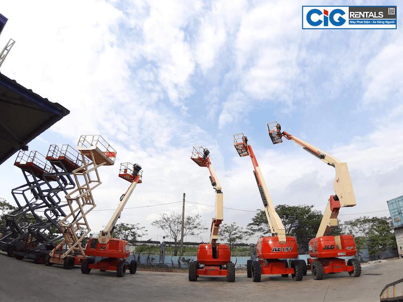 Các loại xe thang nâng người 20 mét có sẵn tại CIG Power