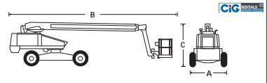 Cấu tạo xe nâng người Snorkel TB 66J