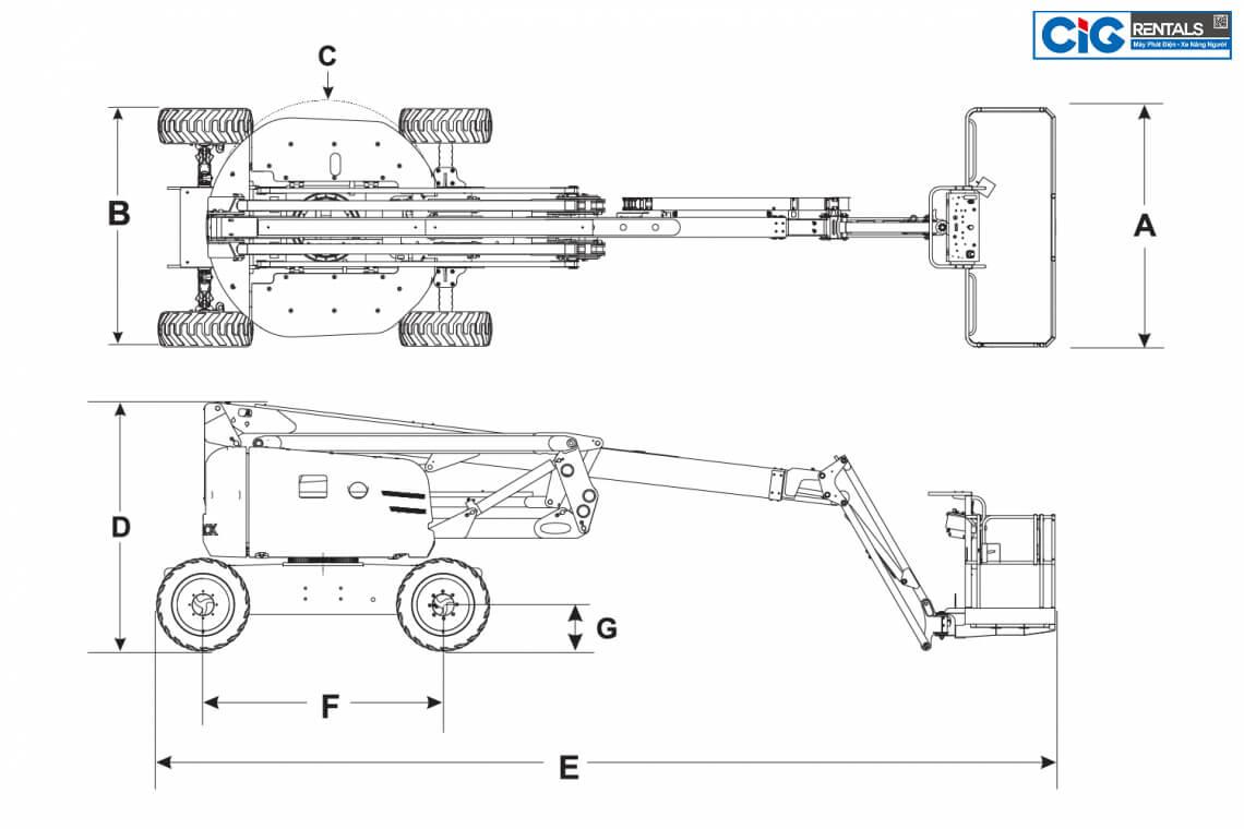 Cấu tạo xe Skyjack SJ 63AJ