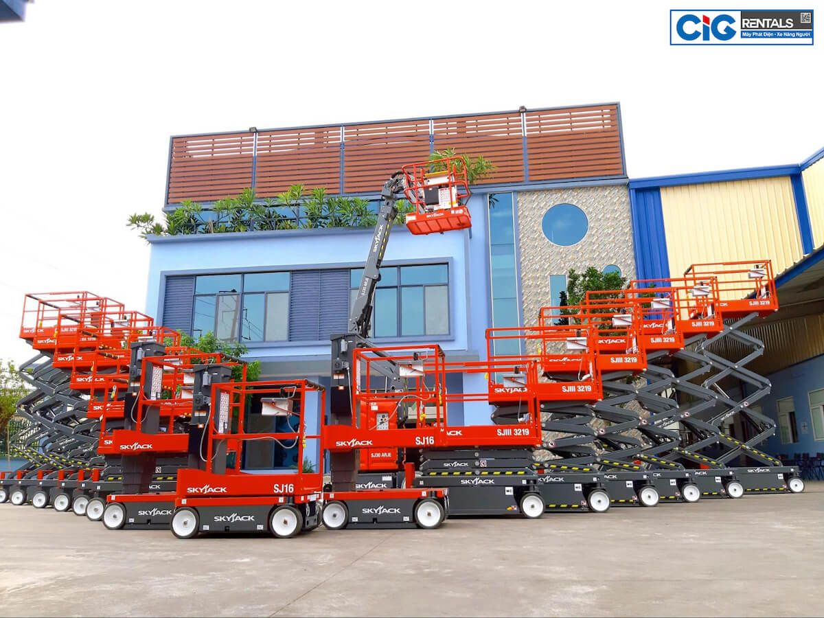 CIG Power - Địa chỉ cung cấp xe nâng người 14m uy tín