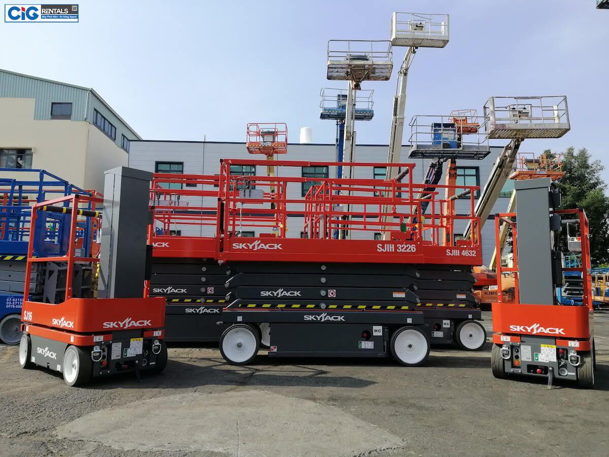 Tổng hợp các mẫu xe thang nâng 22m phổ biến tại CIG Power