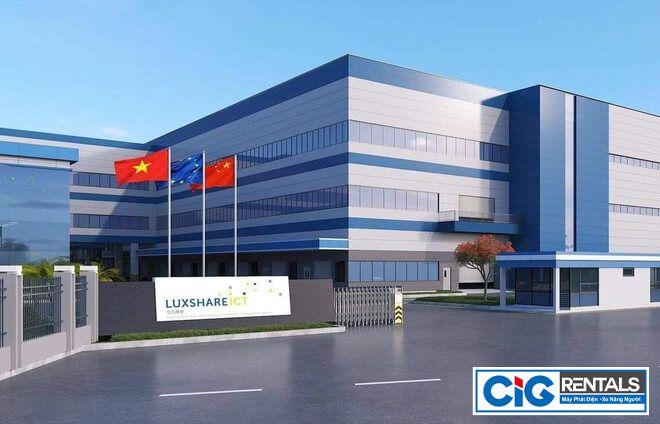 CIG cung cấp xe nâng người dự án Luxshare - ICT