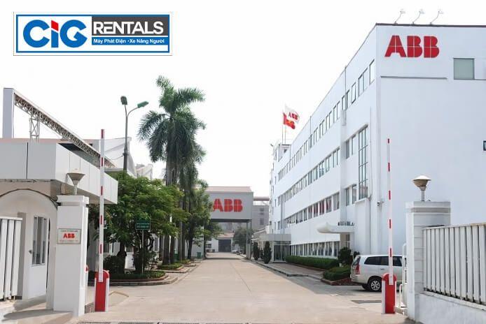 Thuê xe nâng người dự án ABB Bắc Ninh