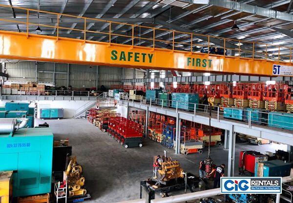 CIG cung cấp đa dạng xe nâng người tại Đà Nẵng