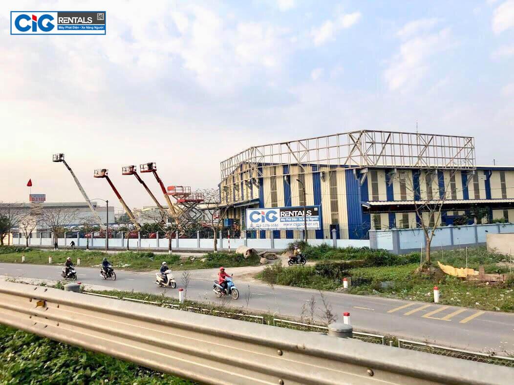 CIG Power cho thuê xe nâng người tại Bắc Ninh giá tốt