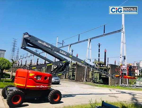 Ứng dụng mẫu xe thang nâng 20m địa hình
