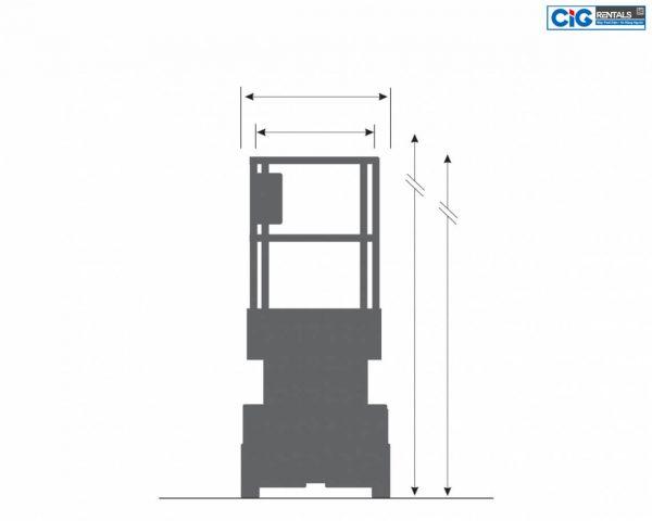 Biểu đồ thang nâng người Skyjack SJIII3215