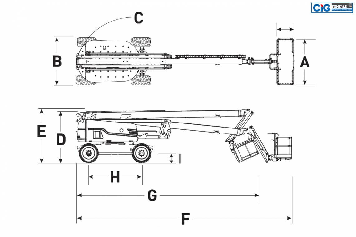 Mô hình cấu tạo xe Skyjack SJ 85AJ