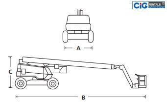 Mô hình cấu tạo xe Snorkel AB 85J