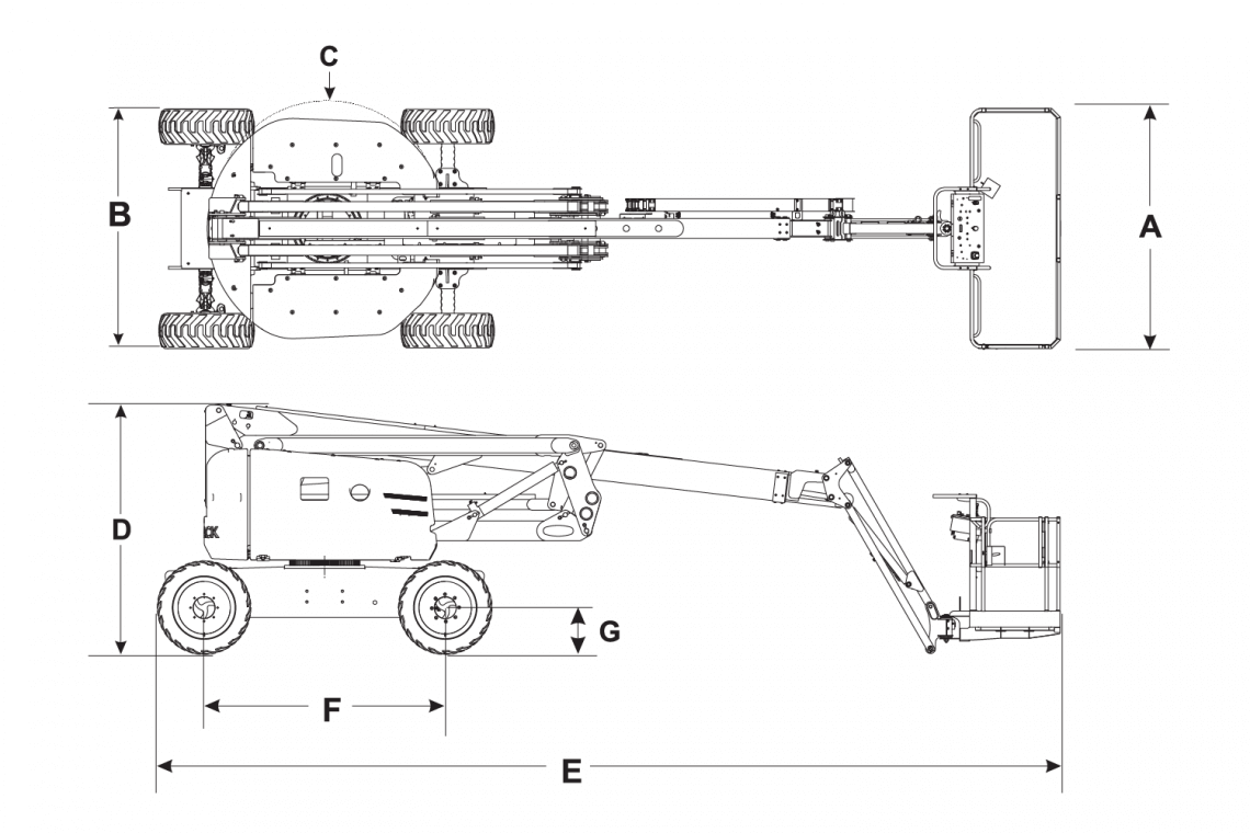 Mô hình xe nâng người Skyjack SJ 63AJ