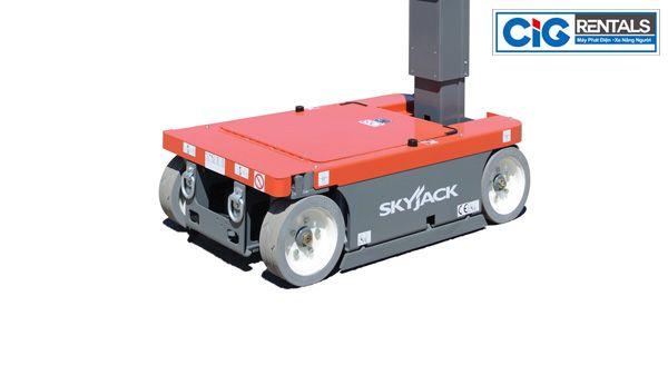 Phần thân và bánh xe nâng người dạng trục đứng