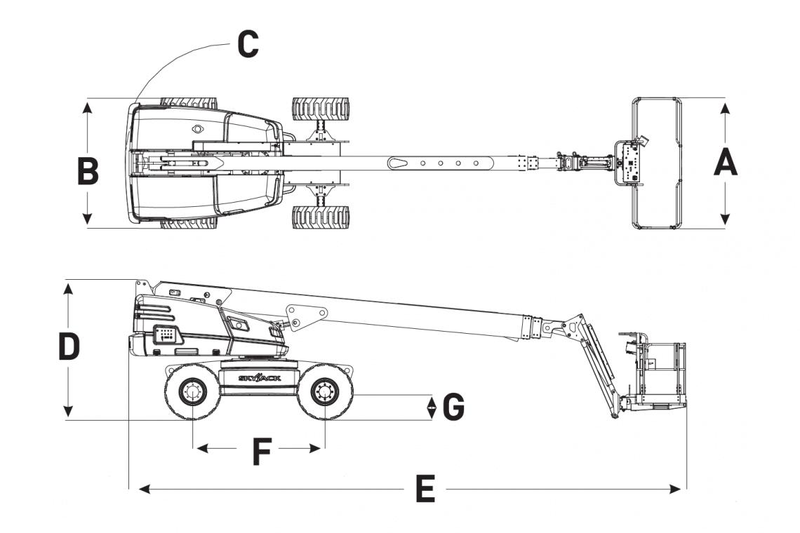 Mô hình xe nâng Skyjack SJ 61T