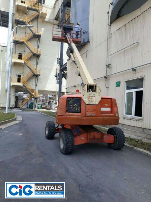 Xe nâng người CIG được sử dụng tại Formosa Nghệ An