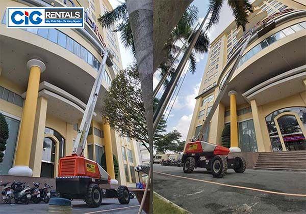 Công ty cung cấp dịch vụ cho thuê xe nâng người dạng cắt kéo và dạng gấp khúc