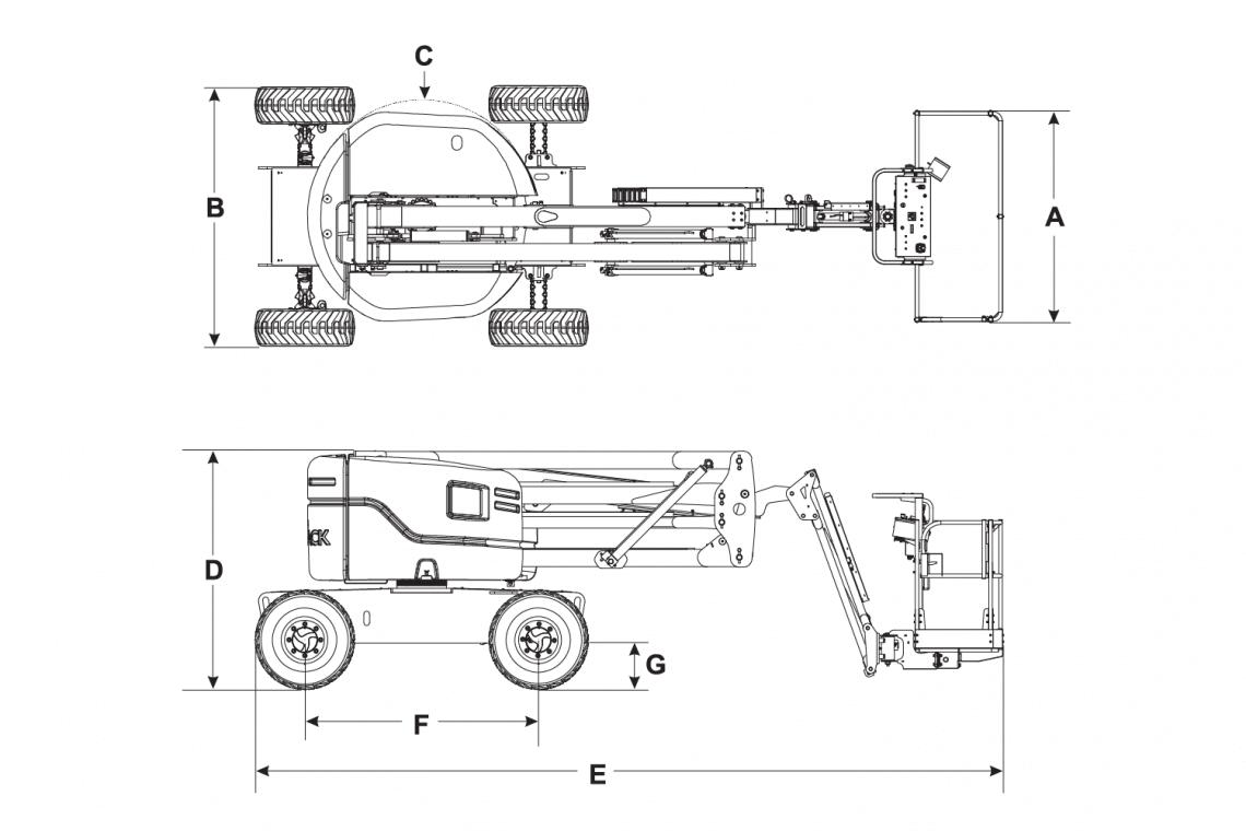 Mô hình xe nâng người 16m Skyjack SJ 46AJ