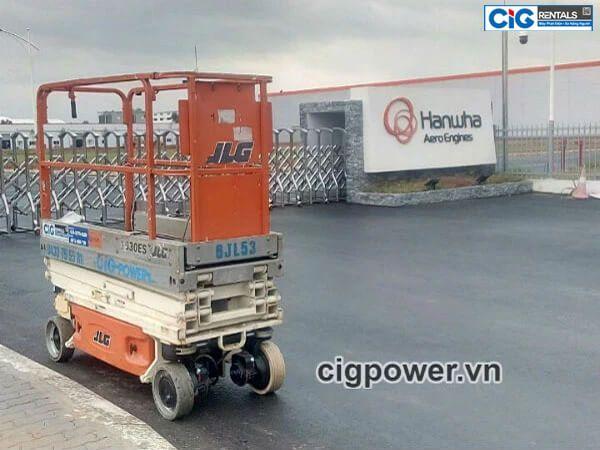 CIG Power cung cấp xe nâng người cho KCN cao Láng Hòa Lạc