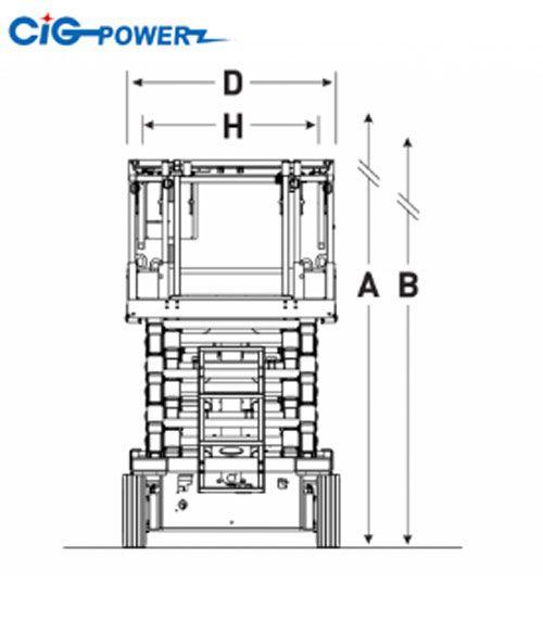 Biểu đồ xe nâng người Skyjack SJIII 4740